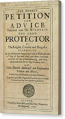 Humble Petition Canvas Print by British Library