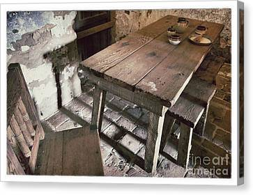 Humble Table Canvas Print by John Castell