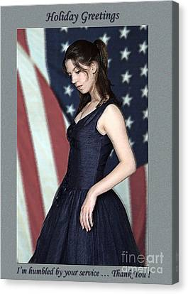 Canvas Print - Humbled American - Our Freedom Isn't Free   Photo Greeting  Card    by Andrew Govan Dantzler