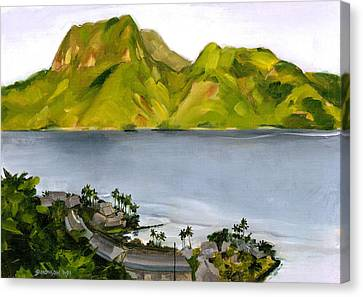 Humid Day In Pago Pago Canvas Print by Douglas Simonson