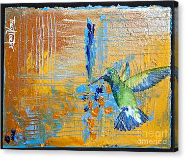 Hummingbird Abstract Canvas Print by Tracy L Teeter