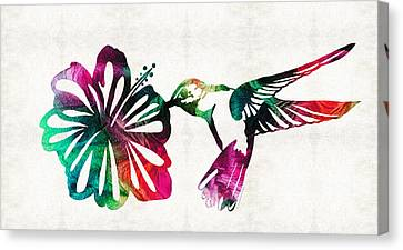 Humming Birds Canvas Print - Hummingbird Art - Tropical Chorus - By Sharon Cummings by Sharon Cummings