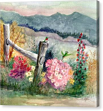 Hummingbird Haven Canvas Print by Marilyn Smith