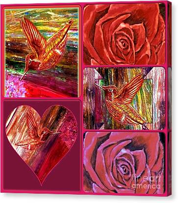 Romance Of A Hummingbird Canvas Print by Kimberlee Baxter