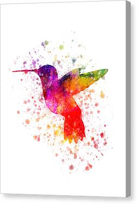 Hummingbird In Color Canvas Print by Aged Pixel