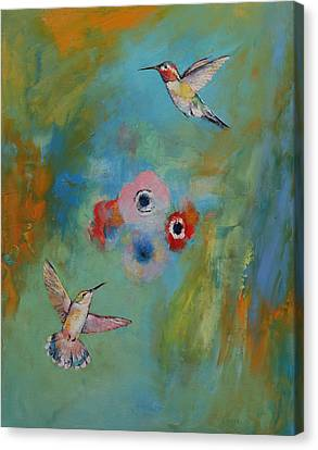 Hummingbirds Canvas Print by Michael Creese