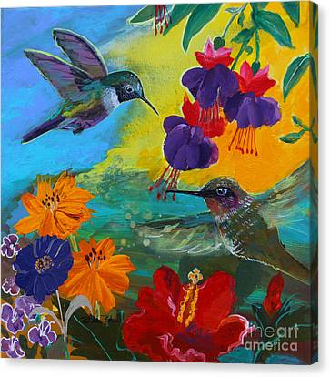 Hummingbirds Prayer Warriors Canvas Print by Robin Maria Pedrero