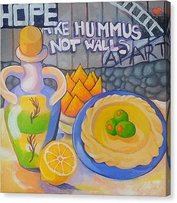 Hummus Behind A Wall Canvas Print