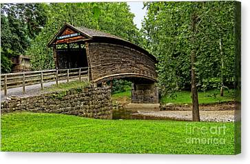 Canvas Print featuring the photograph Humpback Bridge by Brenda Bostic