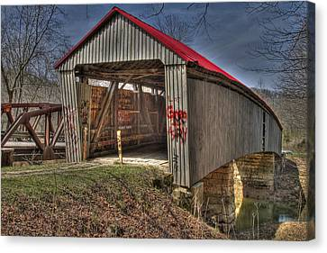 Artistic Humpback Covered Bridge Canvas Print