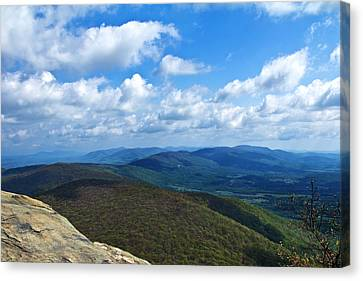 Canvas Print featuring the photograph Humpback Rocks View North by Jemmy Archer