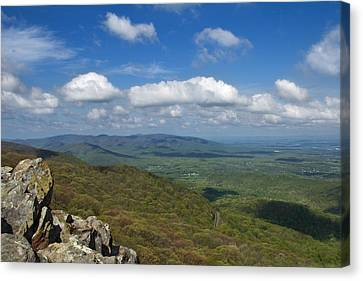 Canvas Print featuring the photograph Humpback Rocks View South by Jemmy Archer