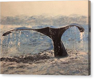 Canvas Print featuring the painting Humpback by Stan Tenney