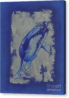 Humpback Whale Canvas Print by Konni Jensen