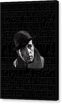 Humphrey Bogart 1 Canvas Print by Andrew Fare