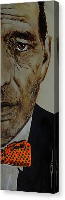 Canvas Print featuring the painting Humphrey  Bogart #2 by Eric Dee