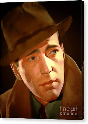 Sam Spade Canvas Print - Humphrey Bogart 20150307 by Wingsdomain Art and Photography