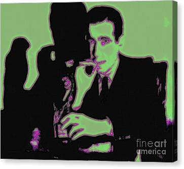 Sam Spade Canvas Print - Humphrey Bogart And The Maltese Falcon 20130323 by Wingsdomain Art and Photography