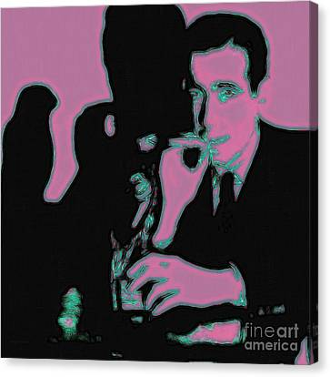 Sam Spade Canvas Print - Humphrey Bogart And The Maltese Falcon 20130323m138 Square by Wingsdomain Art and Photography