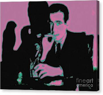 Sam Spade Canvas Print - Humphrey Bogart And The Maltese Falcon 20130323m138 by Wingsdomain Art and Photography