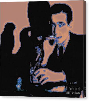 Humphrey Bogart And The Maltese Falcon 20130323m88 Square Canvas Print by Wingsdomain Art and Photography