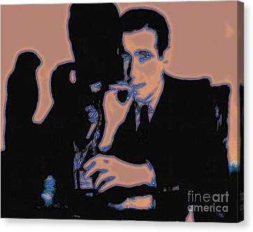 Sam Spade Canvas Print - Humphrey Bogart And The Maltese Falcon 20130323m88 by Wingsdomain Art and Photography