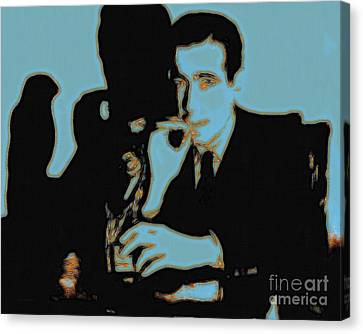 Sam Spade Canvas Print - Humphrey Bogart And The Maltese Falcon 20130323p88 by Wingsdomain Art and Photography
