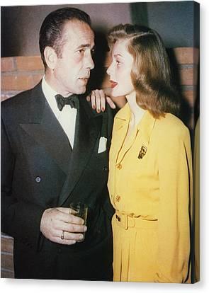 Humphrey Bogart Canvas Print by Silver Screen