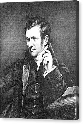 Humphrey Davy Canvas Print by Science Photo Library