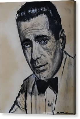 Canvas Print featuring the drawing Humphrey Deforest Bogart -1  by Eric Dee