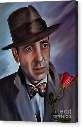 Humphrey Deforest Bogart Canvas Print by Andrzej Szczerski
