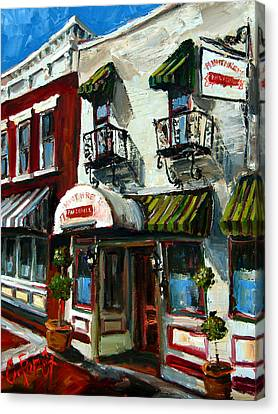 Humphreys Bar And Grill Canvas Print by Carole Foret