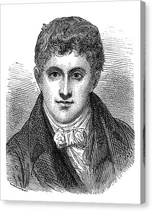 Humphry Davy Canvas Print by Science Photo Library