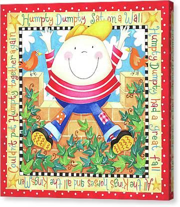 Humpty Dumpty Canvas Print by P.s. Art Studios