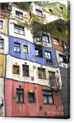 Hundertwasserhaus Vienna Canvas Print
