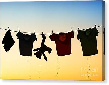 Clothes Line Canvas Print - Hung Out To Dry by Tim Gainey