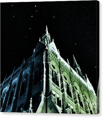 Goth Canvas Print - Hungarian Parliament Building 2 - Budapest Hungary by Marianna Mills
