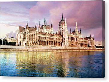 Hungary, Budapest, View Canvas Print