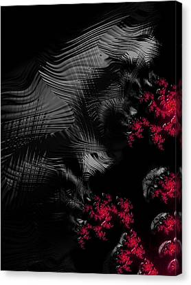 Creepy Canvas Print - Hunger - Dark And Blood Red Fractal Art by Matthias Hauser