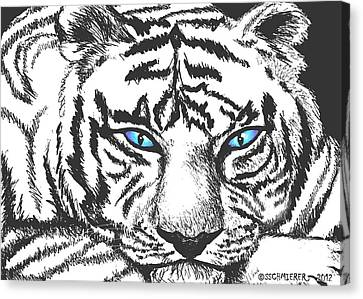 Hungry Eyes Canvas Print by Sophia Schmierer