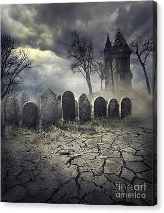 Gothic Poster Canvas Print - Hunted House by Jelena Jovanovic