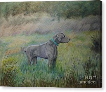 Canvas Print featuring the painting Hunter by Laurianna Taylor