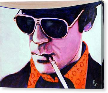 Canvas Print featuring the painting Hunter S Thompson by Bob Baker