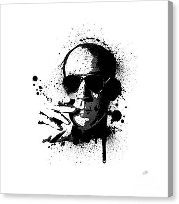 Hunter S. Thompson Canvas Print by Laurence Adamson