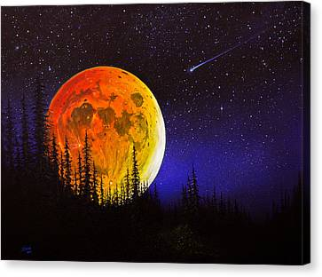 Hunter's Harvest Moon Canvas Print by C Steele