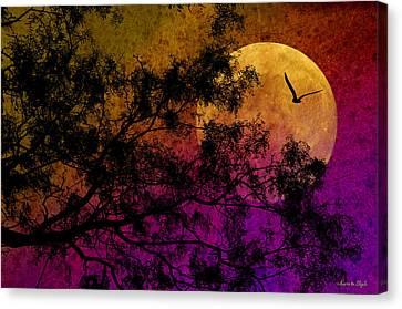 Hunter's Moon Canvas Print by Karen Slagle