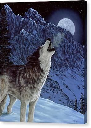 Snowscape Canvas Print - Hunters Moon by Rick Bainbridge