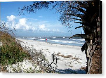Canvas Print featuring the photograph Hunting Island -8 by Ellen Tully