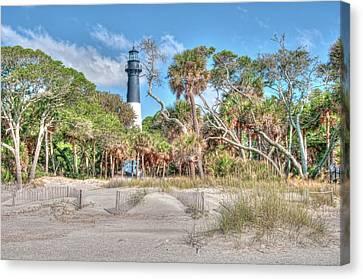 Hunting Island - Beach View Canvas Print by Scott Hansen
