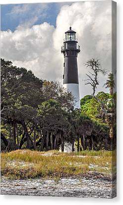 Hunting Island Lighthouse Canvas Print by Donnie Smith